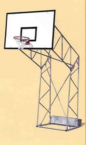 Impianto basket standard fisso da esterno