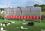Panca bordo campo calcio Modello Curva Standard a 12 posti