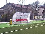 Panca bordo campo calcio Modello Curva Standard a 4 posti