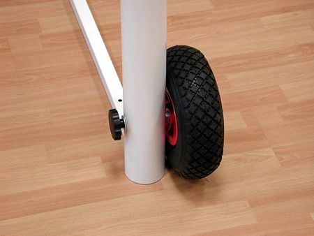Set di 2 ruote per porte da calcetto trasportabili