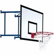 Impianto basket da parete per esterno, sbalzo da 50 a 80 cm