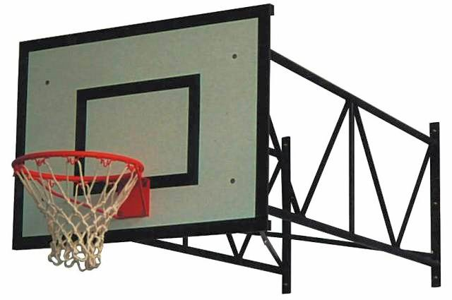 Impianto basket da parete da esterno, sbalzo da 100 a 250 cm