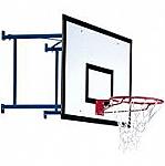 Impianto basket extra da parete per interno, sbalzo da 50 a 80 cm