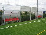Panca bordo campo calcio Modello Curva Standard a 6 posti