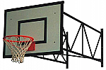 Impianto basket standard a parete da interno, sbalzo da 100 a 250 cm