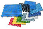 PEDANE MODULARI COMPONIBILI IN PLASTICA  - DIM. CM. 33 X 33 X 1,5 CONF. DA 9