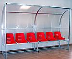 Panca bordo campo calcio Modello Curva Team a 9 posti