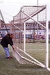 Coppia di basi posteriori ferma-rete per porte da calcio di  mt 6