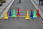 Ostacolo per allenamento calcio junior in plastica regolabile cm 50