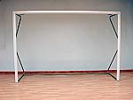 Coppia di porte da calcio in alluminio a sezione tonda con bussole Dimensioni mt 5 x 2
