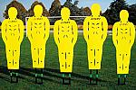 Barriera per calci di punizione Pro Soft con 5 sagome in plastica snodate